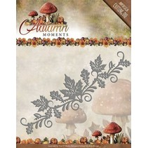 Punching and embossing stencil: border with leaves