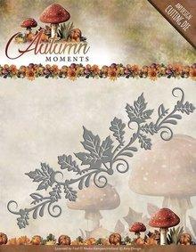 Amy Design Punzonatura e goffratura stencil: confine con foglie
