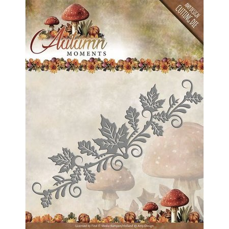 Amy Design Punching and embossing stencil: border with leaves
