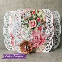 Stamping template: Shabby chic, borders