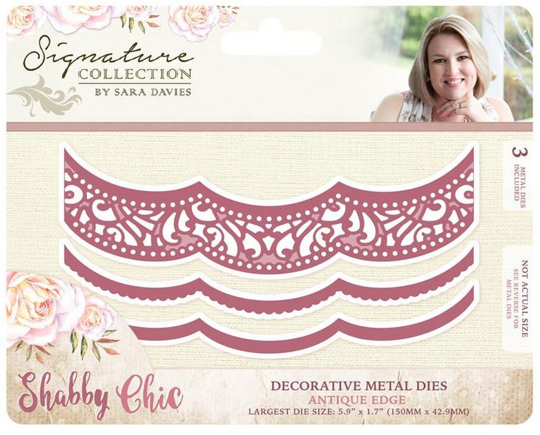Crafter\'s Companion Stamping template: Shabby chic, borders ...
