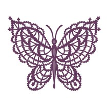 Stamping template: Lace butterfly