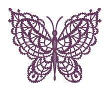 Creative Expressions Stamping template: Lace butterfly
