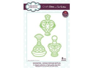 Creative Expressions Stamping template: Vintage Perfume Bottles
