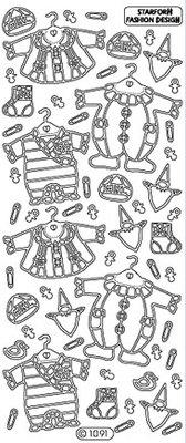 Sticker Ziersticker: Baby Kleidung Mädchen