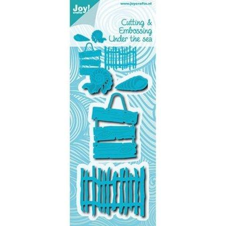 Joy!Crafts Perforación plantilla cáscaras, paneles de texto y la cerca