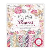 Designersblock, geschilderde bloemen