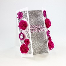 TONIC Stamping and embossing template: filigree decorative border with flowers