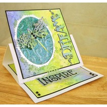 Stamping and embossing template: Dragonfly