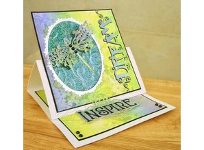 TONIC Stamping and embossing template: Dragonfly