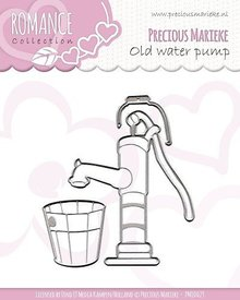Precious Marieke Corte y estampación plantillas, colección Romance, bomba de agua vieja