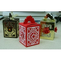 Stempelen en embossing folder A4: Box