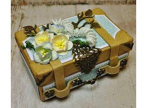 Holz, MDF, Pappe, Objekten zum Dekorieren 2 Nostalgic mini suitcase, made of strong cardboard.