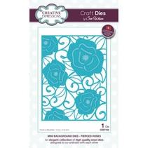 Ponsen sjabloon: Mini Achtergrond - Pierced Roses