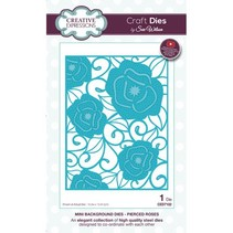 Stamping template: Mini Background - Pierced Roses