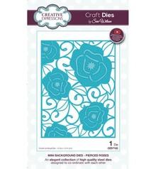 Creative Expressions plantilla de perforación: Mini fondo - Traspasados Roses