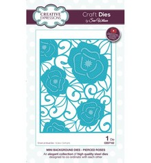 Creative Expressions Stanzschablone: Mini Background - Pierced Roses