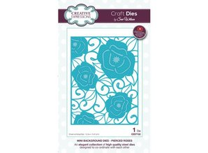 Creative Expressions Stamping template: Mini Background - Pierced Roses