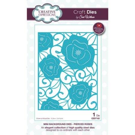 Creative Expressions Stansning skabelon: Mini Baggrund - Pierced Roses