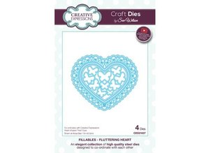 Creative Expressions Punching template: Fluttering Heart