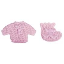 Babyaccessoires camisola + calcetines de bebé de color rosa