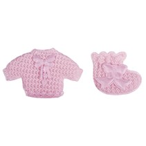 Babyaccessoires chemise + sokker baby pink