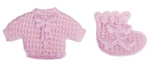 Embellishments / Verzierungen Babyaccessoires chemise + calze rosa baby