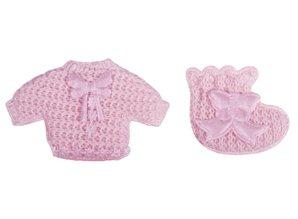 Embellishments / Verzierungen Babyaccessoires chemise + sokker baby pink