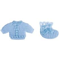 Babyaccessoires camisola + calcetines del bebé azul