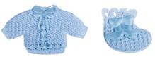 Embellishments / Verzierungen Babyaccessoires chemise + calzini bambino blu