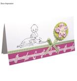 Embellishments / Verzierungen Satinado adorno de un puñetazo banda de color rosa bebé