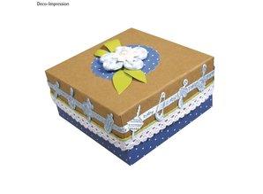 Embellishments / Verzierungen Satin Motiv-Stanzband babyblau