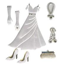 Embellishments / Verzierungen Satin Deco Stickers: wedding