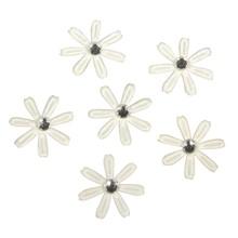 Embellishments / Verzierungen 60 fiori di raso con strass, 1,8 centimetri di avorio ø