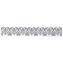 Embellishments / Verzierungen Washi Tape mit gestanztem spitzen Rand Herzen