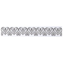 Embellishments / Verzierungen Washi tape with punched pointed edge heart