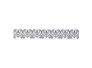 Embellishments / Verzierungen Washi tape med udstansede spids kant hjerte