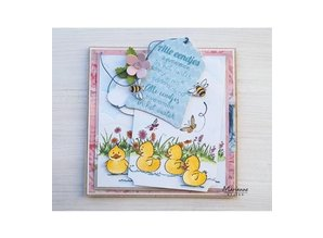 Marianne Design Transparent Stamp: cute ducklings