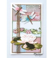 Marianne Design Punching template: frogs and dragonfly