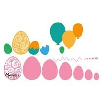 Modèle de poinçonnage: les oeufs de Pâques et des ballons!