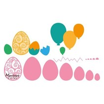 Punching template: Easter eggs and balloons!