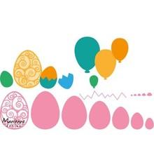 Marianne Design modello di punzonatura: Uova di Pasqua e palloncini!
