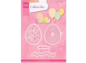 Marianne Design plantilla de perforación: Huevos de Pascua y los globos!