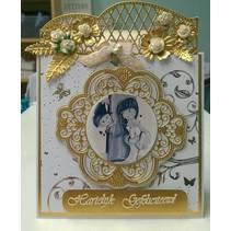 Ponsen sjabloon: Uitstekende decoratieve frame en hoek