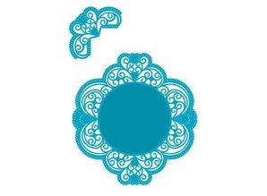 Marianne Design plantilla de perforación: Marco decorativo de la vendimia y la esquina