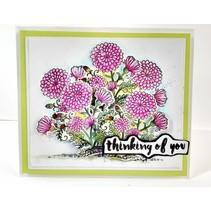 NY stempling stencil stempel +: Flower
