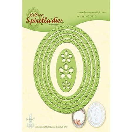 Leane Creatief - Lea'bilities Skæring dør: Spirella ovaler