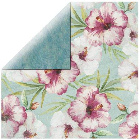 DESIGNER BLÖCKE  / DESIGNER PAPER Scrapbookingpapier Pink Hibiscus