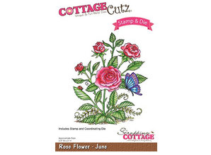 Cottage Cutz NEW Stamping template + stamp: Flower