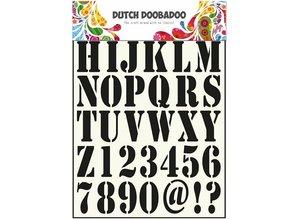 Dutch DooBaDoo Universal Skabelon bogstaver og tal